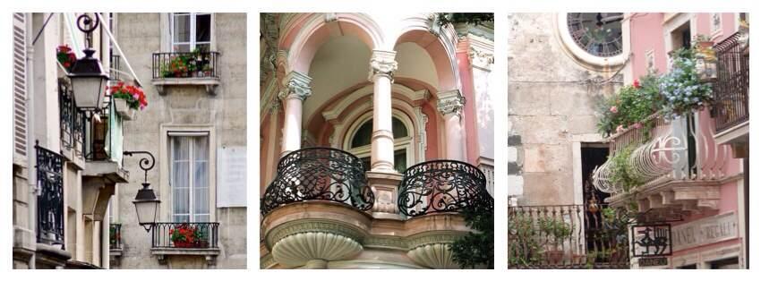 Варианты изящных балконов