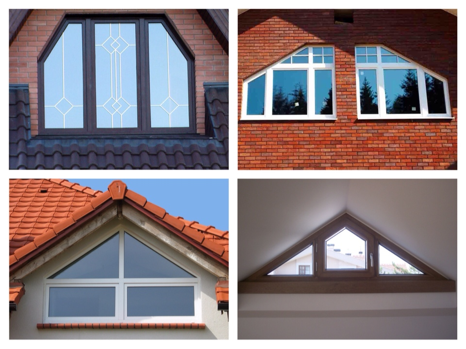 треугольные и трапецевидные окна