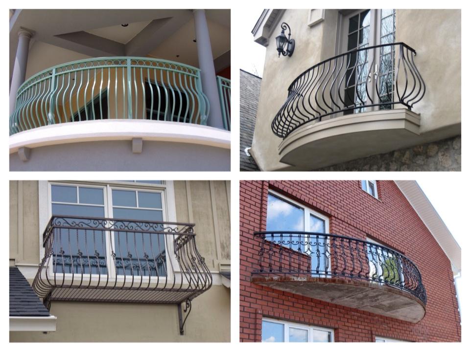 кованный балконы