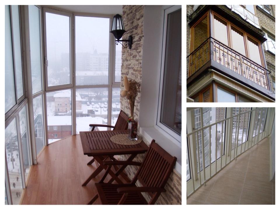 Остекление балконов от пола