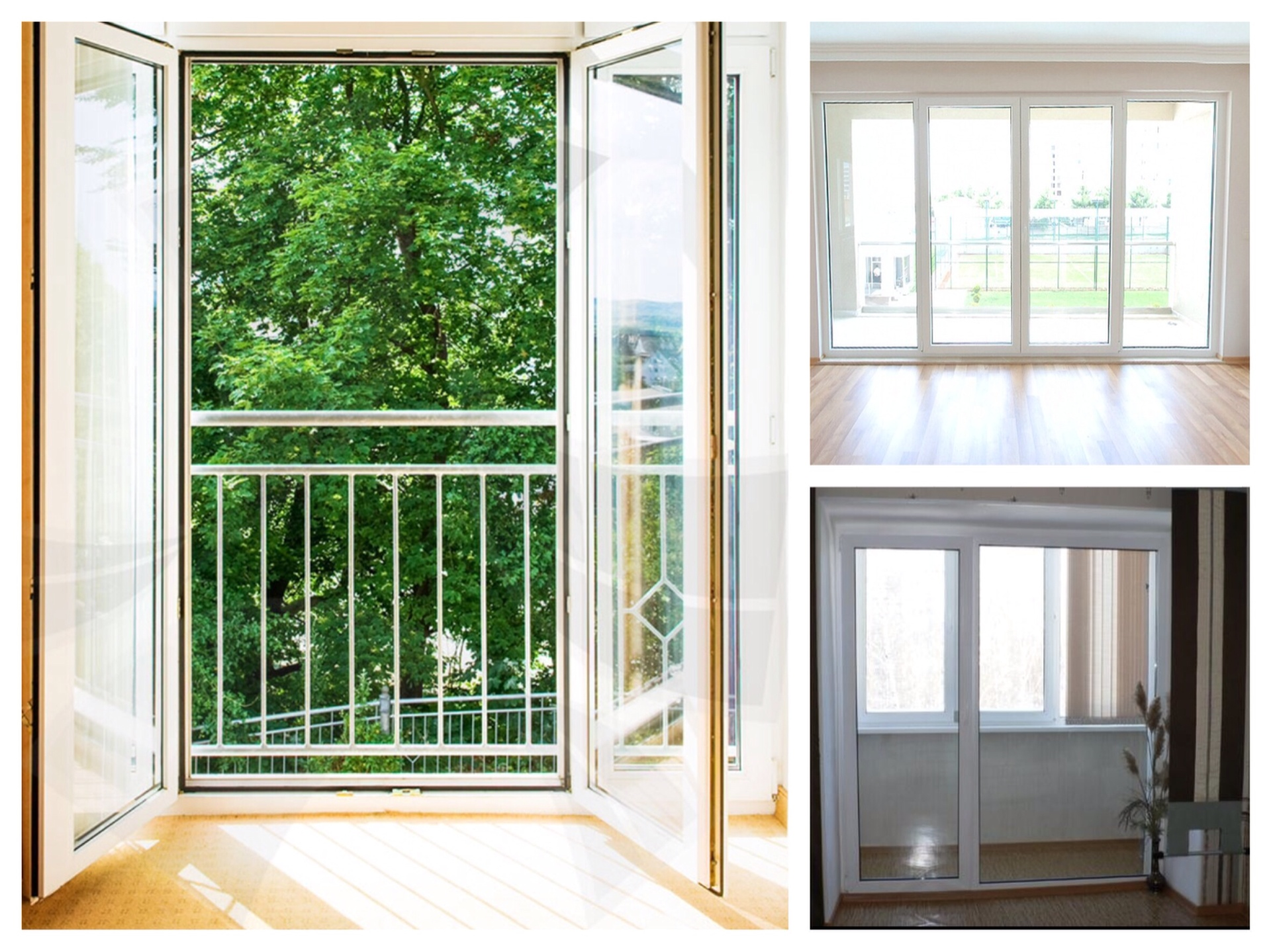 Остекление балконного блока: фото и видео.