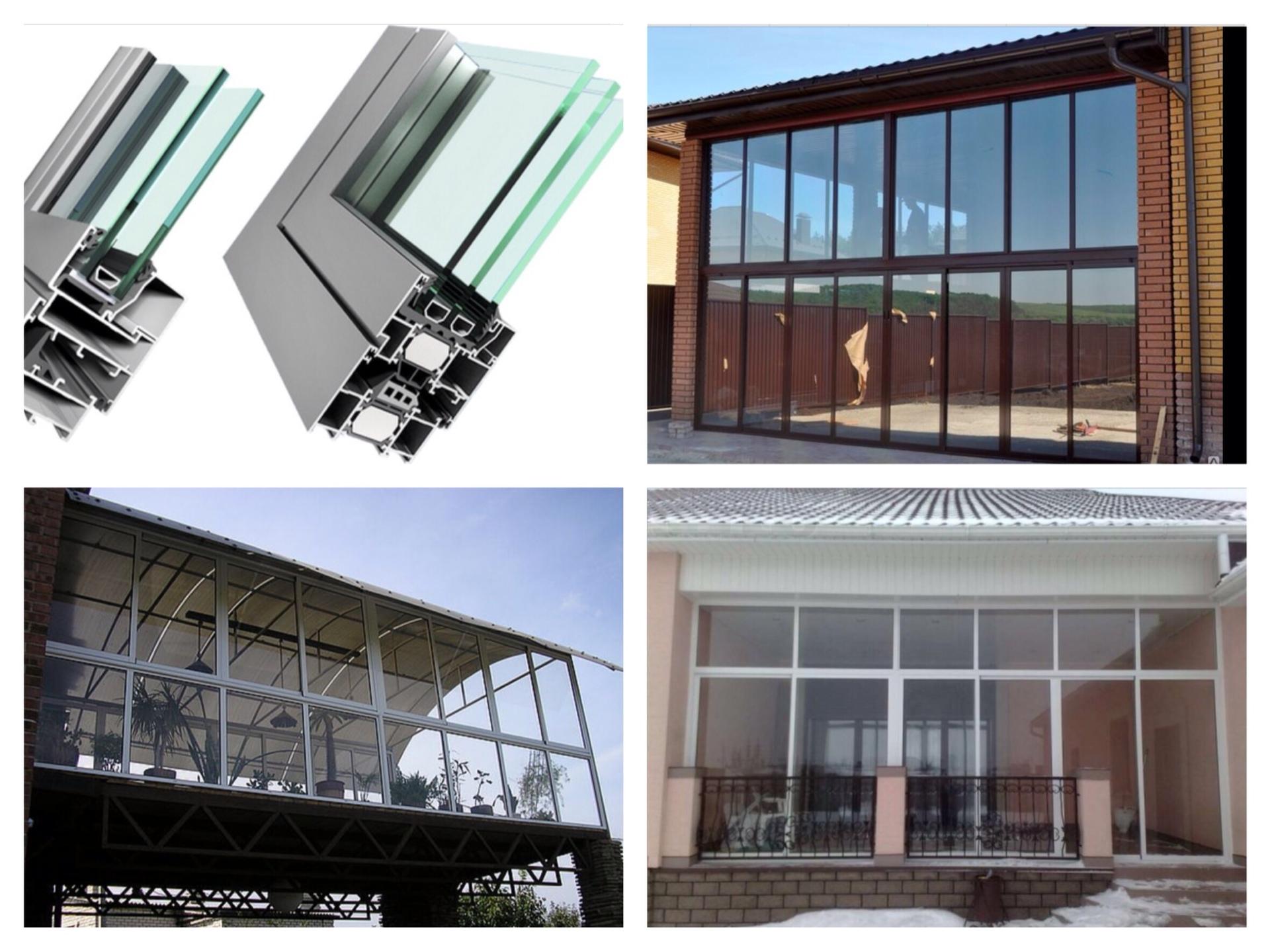 Остекление балконов и лоджий профилем из раздвижного алюмини.