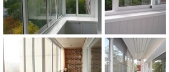 раздвижной алюминий на балконе