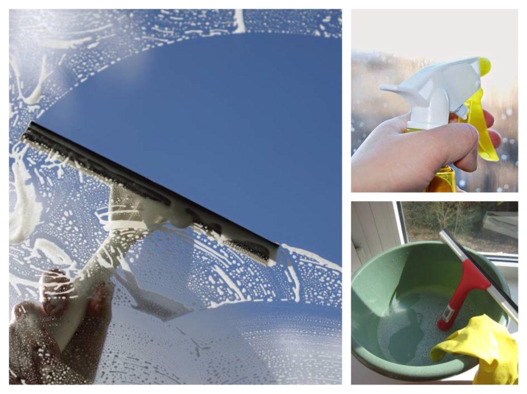 необходимые приспособления для мытья окон