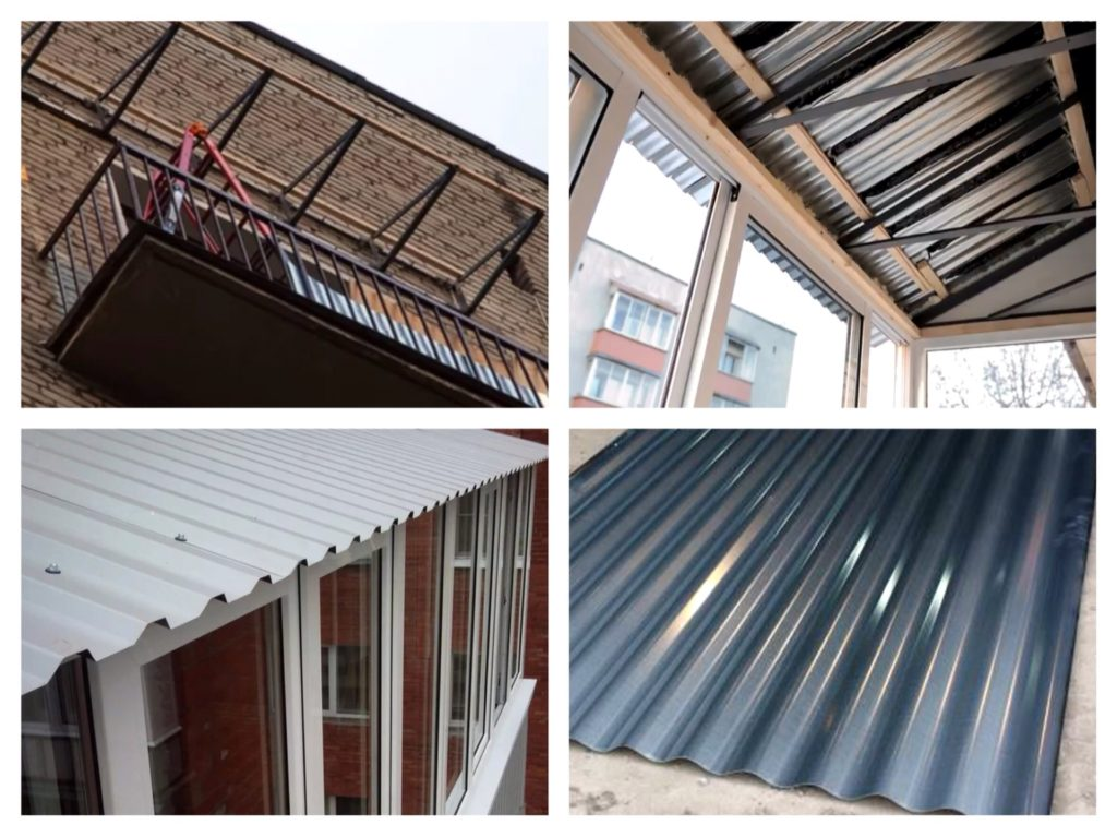 крыши балконов этапы установки