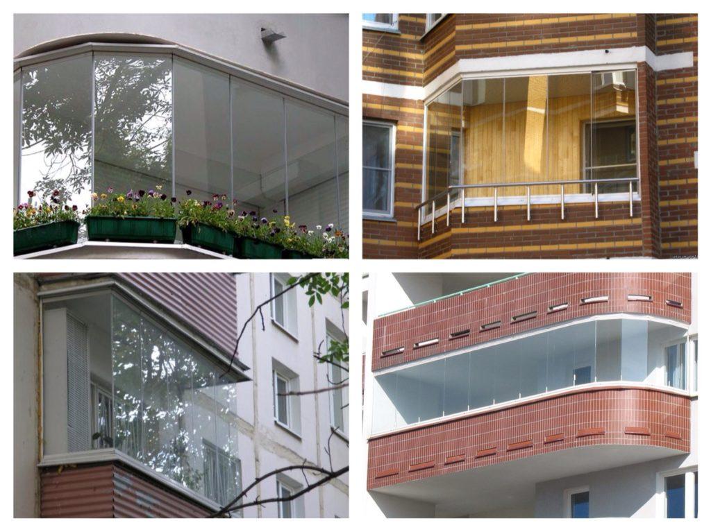 безрамное остекление балконов и лоджий фото