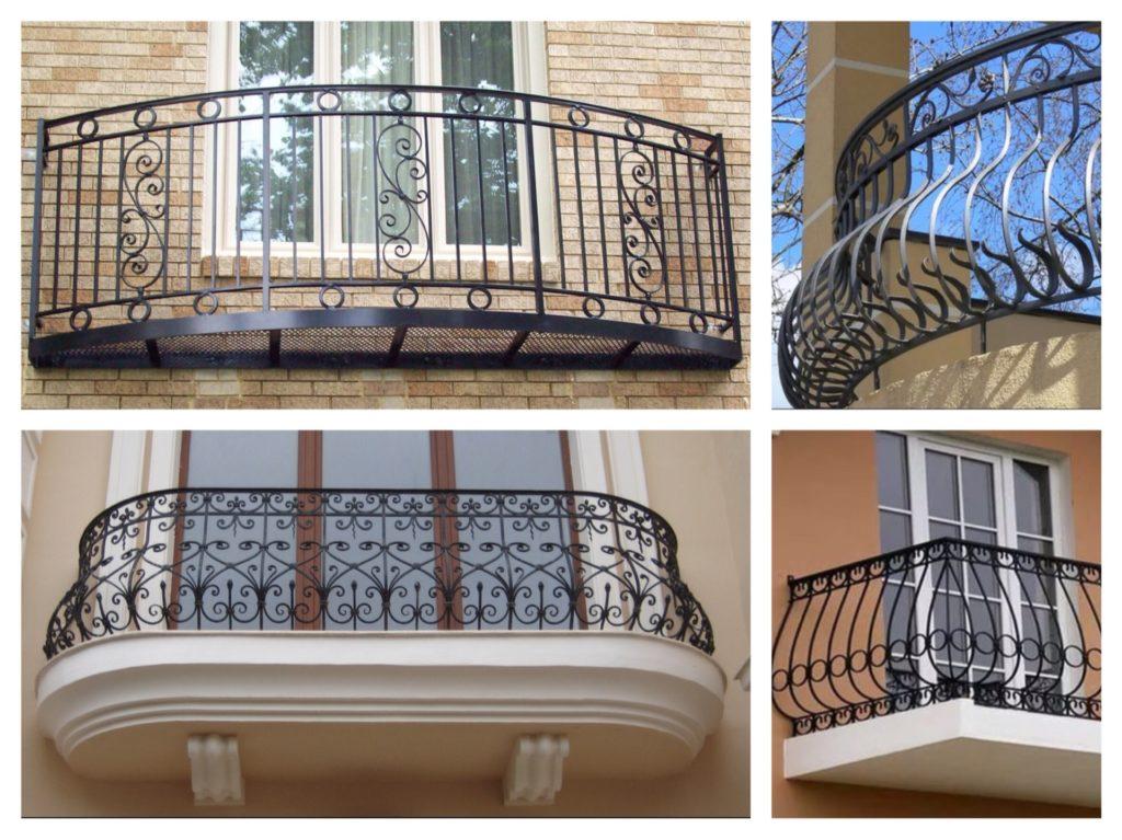 варианты кованных балконов