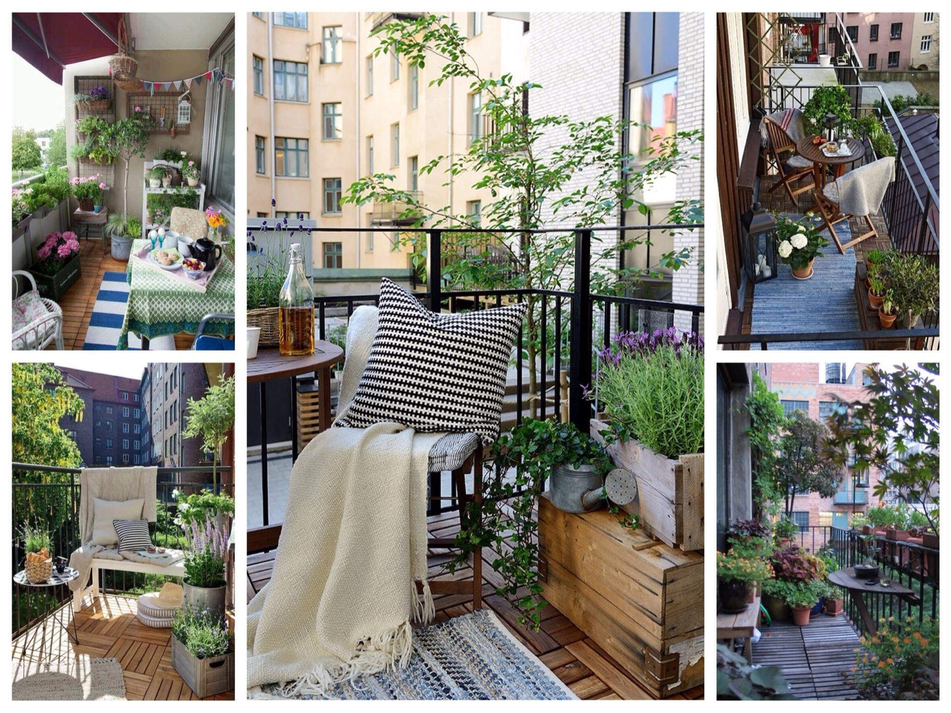 Оформление открытого балкона: рекомендации и фотоидеи.