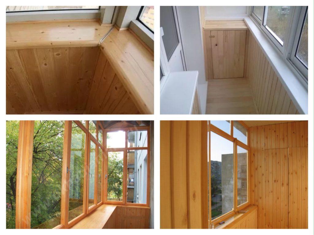 деревянный подоконник для балкона лоджии