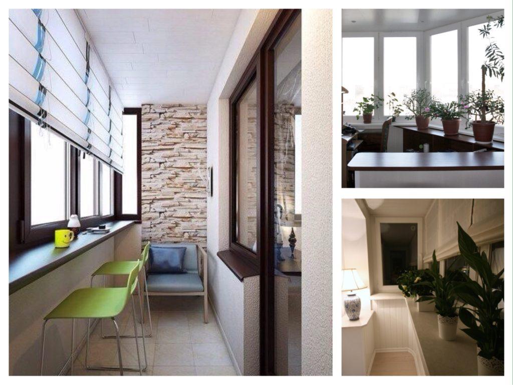 идеи балконов с подоконниками