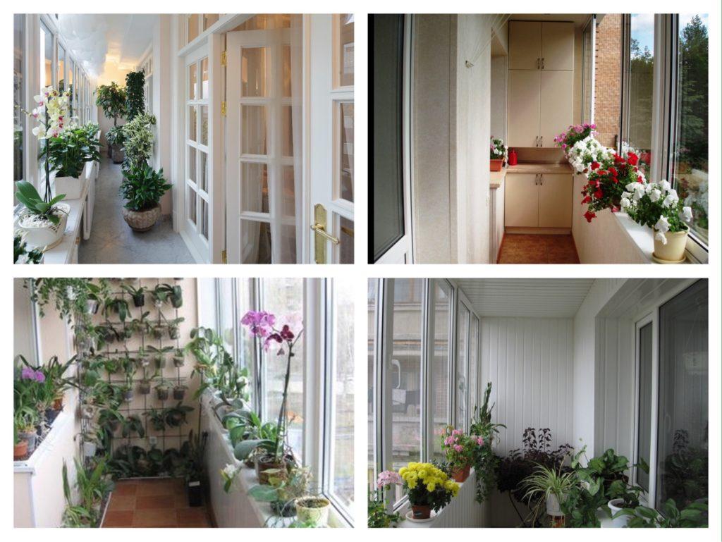 использование подоконника на балконе для цветов