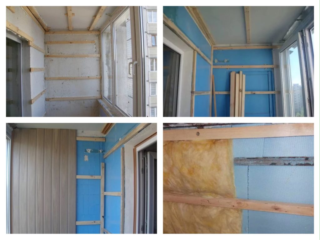 этапы обшивки балкона изнутри фото