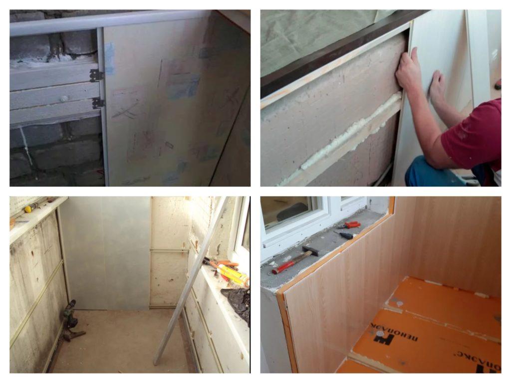 этапы отделки балкона панелями ПВХ
