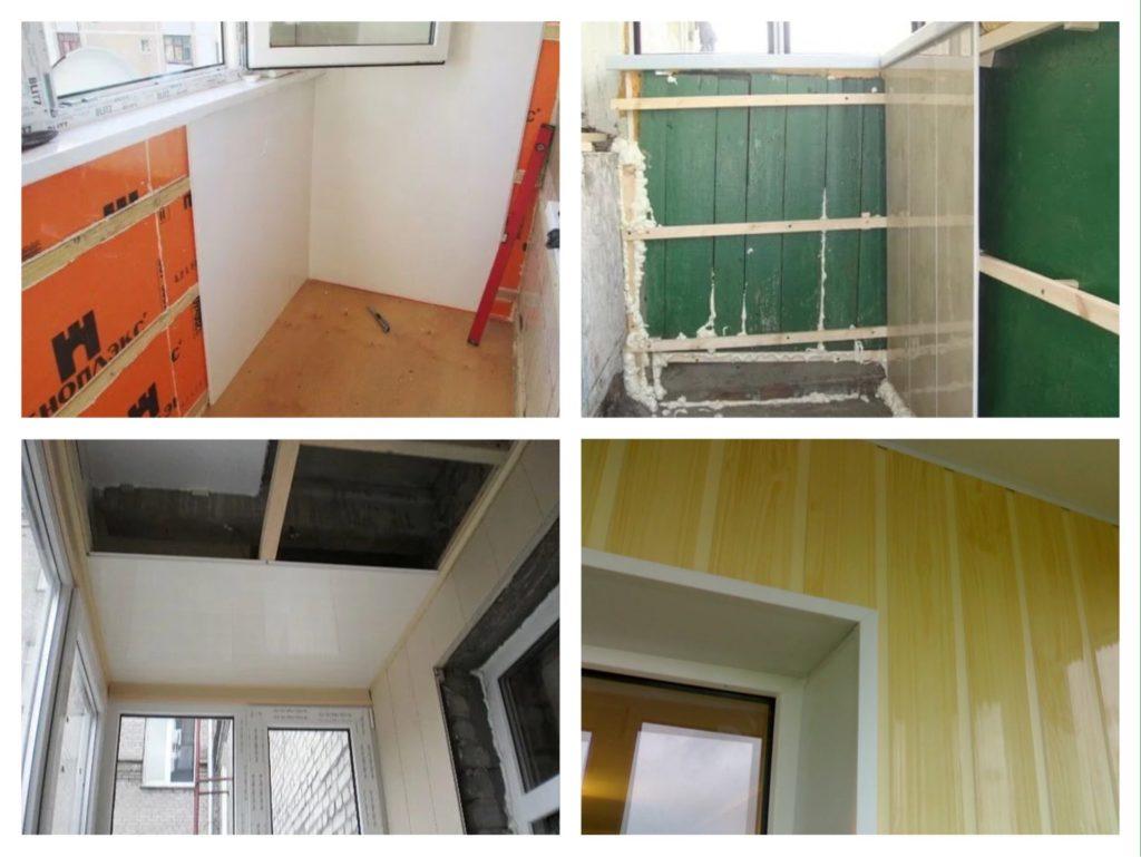 монтаж пвх панелей обшивка балкона фото