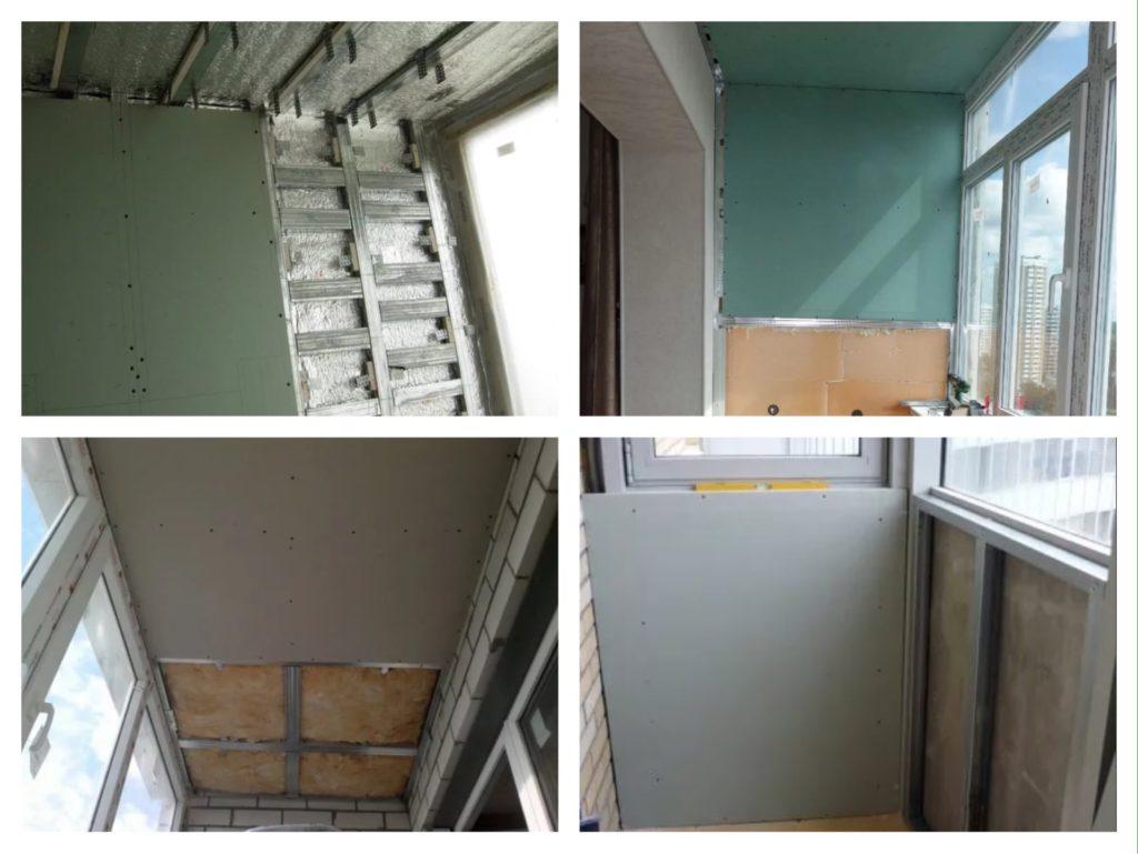 обшивка гипсокартоном отделка балкона лоджии
