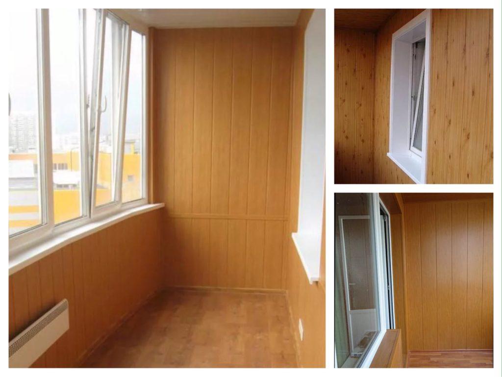 отделка балкона лоджии панелями МДФ фото