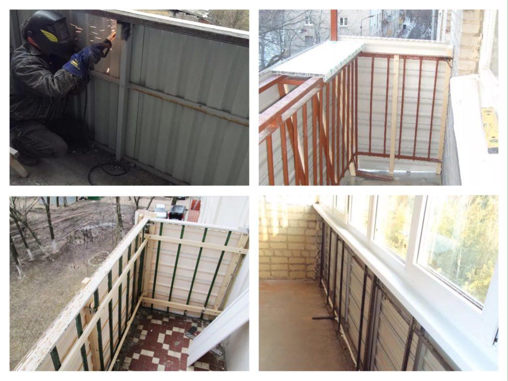 парапет на балконе под остекление из алюминия
