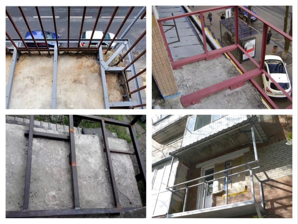 укрепление плиты балкона фото
