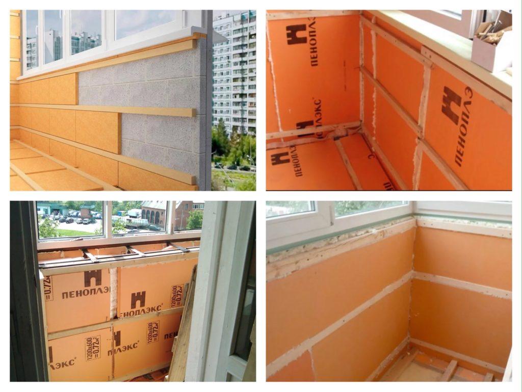 варианты утепления стен балкона