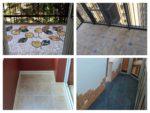 варианты пола на балконе с плиткой