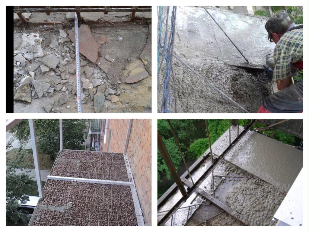 восстановление балконной плиты фото