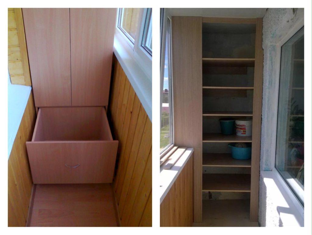 ящики и полки в шкаф на лоджии